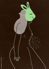 Femme avec un masque de lapin / Women with a rabbit mask