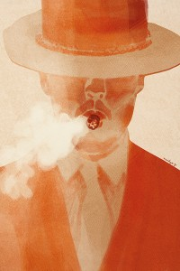 "Illustration ""homme au cigare"" by Annelyse avec un y"