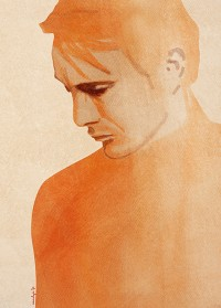 """Illustration """"homme triste"""" by Annelyse avec un y"""