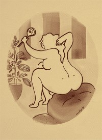 """Illustration """"Femme nue"""" by Annelyse avec un y"""