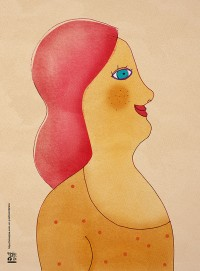 "Illustration ""femme aux cheveux rouges"" by annelyse.fr"