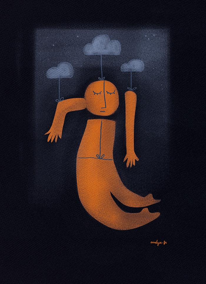 """Illustration """"Je ne suis pas du matin"""" de Annelyse avec un y"""