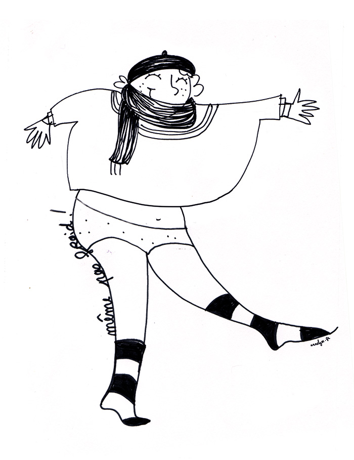 """Illustration """"même pas froid"""" de Annelyse avec un y"""