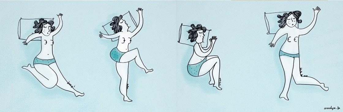 """Illustration """"et toi, comment tu dors"""" de Annelyse avec un y"""