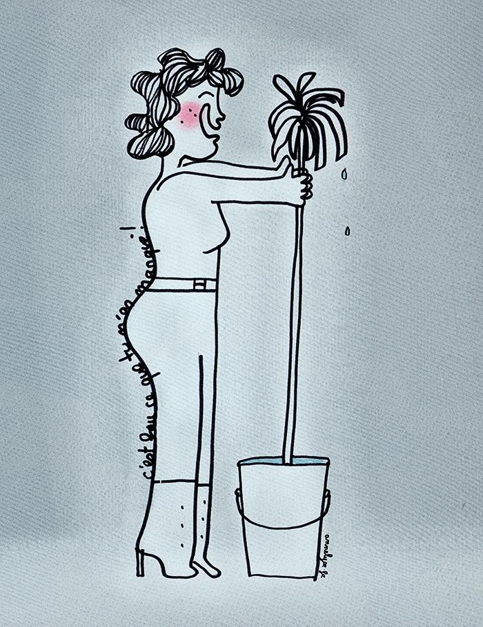 """Illustration originale de Annelyse avec un y """"c'est fou comme tu m'as manqué"""""""