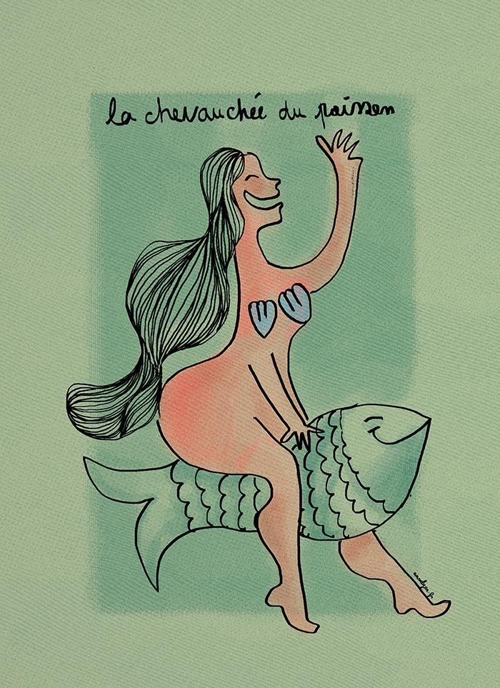 """""""La chevauchée du poisson"""" de annelyse.fr"""