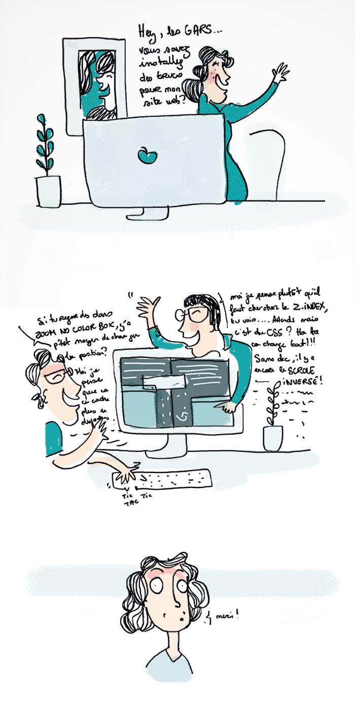 "illustration ""pas du même monde"" by annelyse.fr"