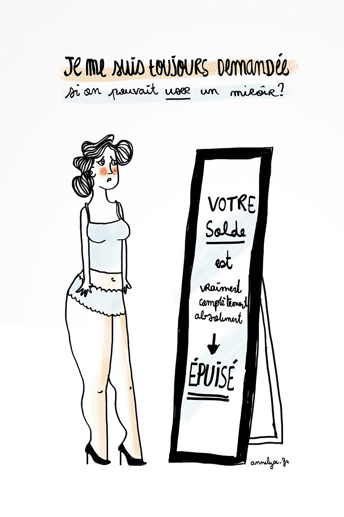 """user le miroir"" illustration by annelyse.fr"