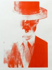 """homme au cigare"" sérigraphie annelyse.fr"