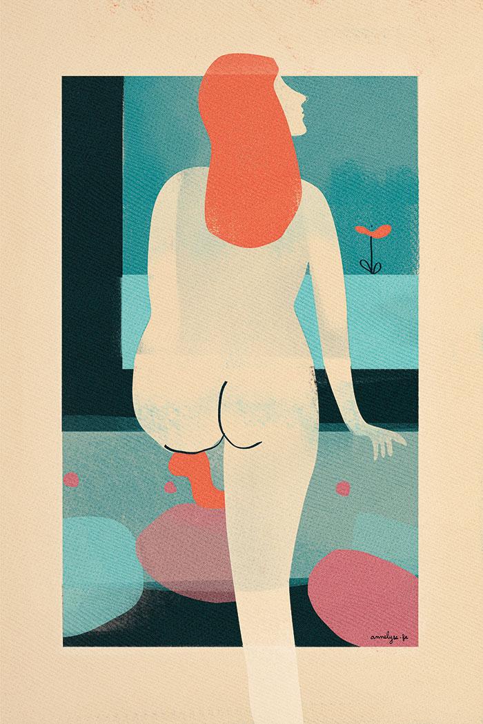 """""""sur la pointe des pieds"""" illustration by annelyse.fr"""