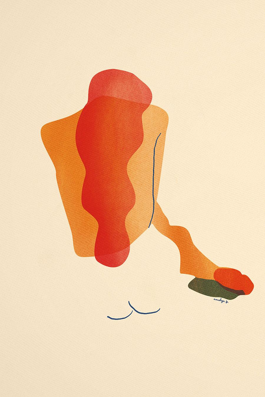 """illustration """"cache-coeur armure"""" par annelyse.fr"""