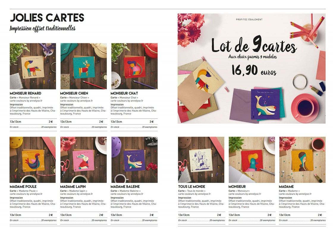 """catalogue vente 2016"" annelyse.fr"
