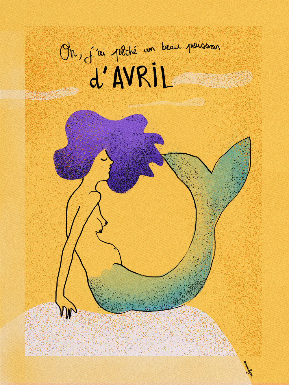 """Sirène d'avril"" illustration de annelyse.fr"
