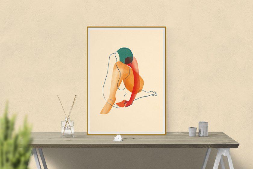 """Blessure"" illustration by annelyse.fr"