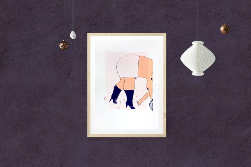 """""""Femme de printemps"""" sérigraphie 3 couleurs by annelyse.fr"""