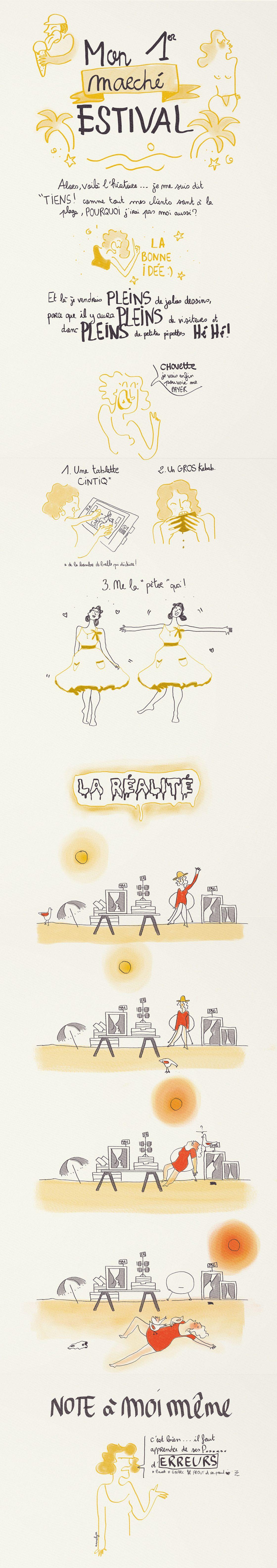"illustration ""mon 1er marché estival"" by annelyse.fr"