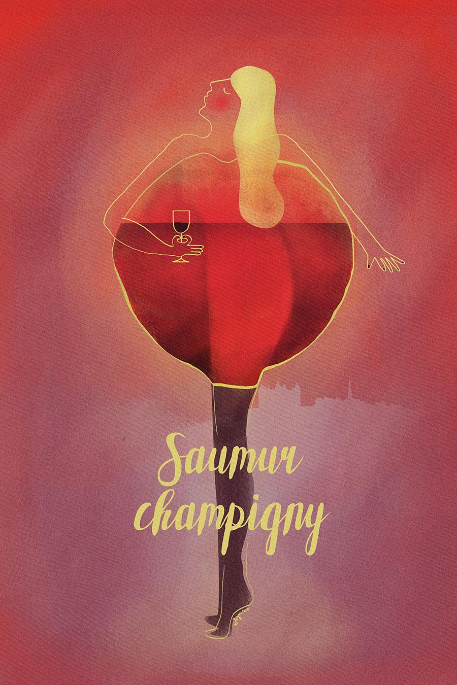 Proposition affiche Saumur-Champigny 2016