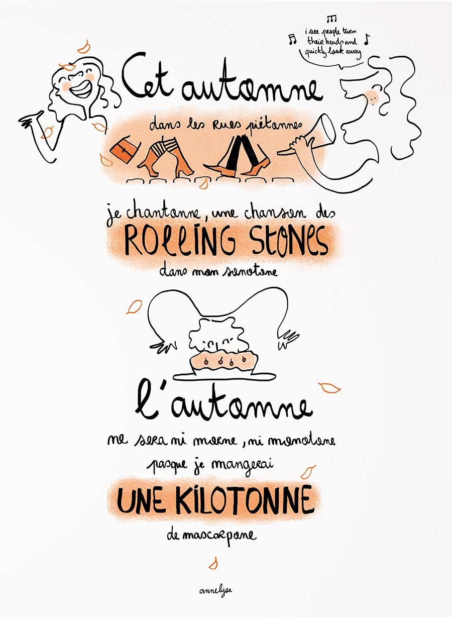 "Illustration ""L'automne ne sera pas morne"" by annelyse.fr"